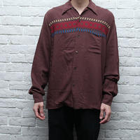 レーヨンシャツ Native Pattern Rayon Shirt
