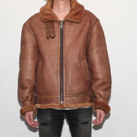 Vintage B-3 Mouton Leather Jacket  ダメージ