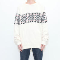 Vintage Nordic Cotton×Wool Sweater