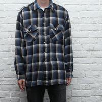 オンブレチェック ウールシャツ