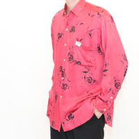Rose Pattern Silk L/S Shirt
