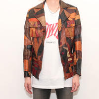Patchwork Leather Jacket