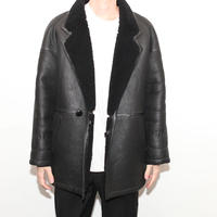 Black Mouton Coat