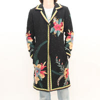 Embroidery Wool Coat