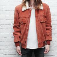 Vintage Suede Boa Jacket