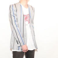 Stripe No Collar Jacket