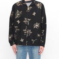 Fake Suede Flower Pattern Jacket