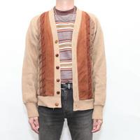 Vintage Switching Knit Cardigan