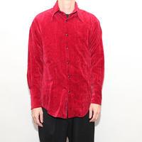 Red Velor Western Shirt