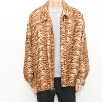 Animal Print Silk Jacket