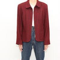 Red×Black Hound's Tooth Jacket