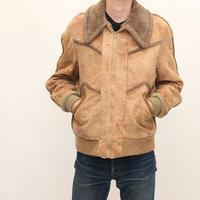 70s Nuback Boa Jacket