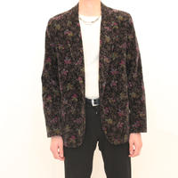 Flower Pattern Velvet Tailored Jacket