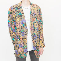 Flower Patterned Silk Jacket