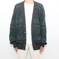 Nordic Pattern Knit Cardigan