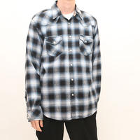 Western Ombre Checker Flannel Shirt