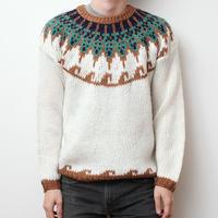 ノルディック ハンドニットセーター Nordic Hand Knit Sweater