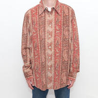 Paisley Pattern Corduroy L/S Shirt