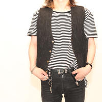 Embroidery Suede Leather Vest