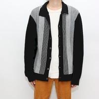 Stripe Pattern Acryl Knit Cardigan