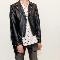 Good Shaped Fringe Leather Jacket