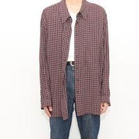 Check Pattern Rayon L/S Shirt