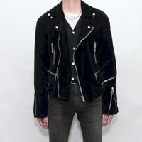 Black Velour Riders Jacket
