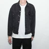 Vintage Levis Black Denim Trucker Jacket