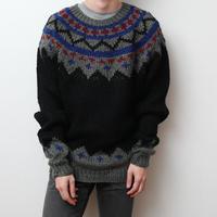 ノルディックセーター ブラック Nordic Sweater
