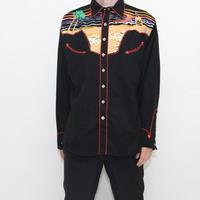 Vintage Black Western Shirt