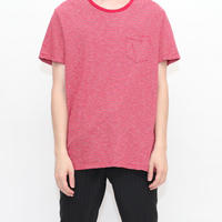 Red × White Border T-Shirt