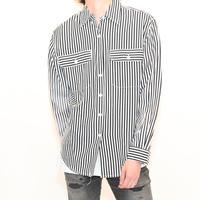 Rayon Stripe L/S Shirt