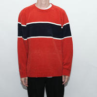 Velours Border knit