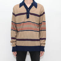 Vintage Knit Polo L/S Shirt