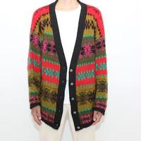 Nordic Pattern Knit Cardigan  MADE IN ITALY