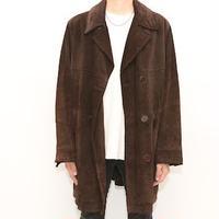 BANANA REPUBLIC Suede Leather Coat