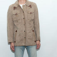 Suede  Leather Western Jacket