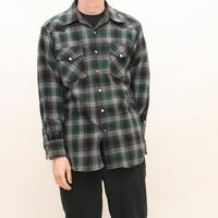 Ombre Checker Wool Shirt