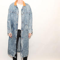 Stone Washed Denim Coat