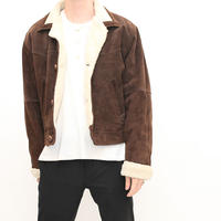 Suede Boa Jacket
