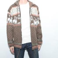 Wool Hooded Cardigan