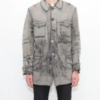 French Vintage Hunting Jacket  Witn Animal Button