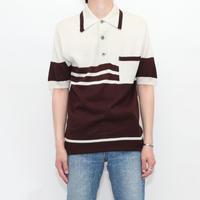 Euro Vintage Knit Polo Shirt