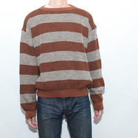 Border Boat Neck Sweater