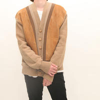 Vintage Wool Nuback Cardigan
