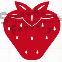 ワンポイントシリーズ【五つ葉のいちご】6cm版