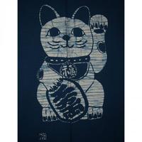 綿のれん 招き猫