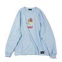 "【HEDWiNG】ロンT ""NAGAHAMA(世田谷店)×HEDWiNG Long sleeve T-shirt"" / LIGHT BLUE"
