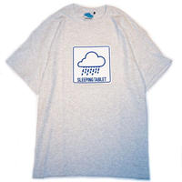 "【SLEEPING TABLET】Tシャツ ""RAIN [ TEE ]"" / ASH GRAY"
