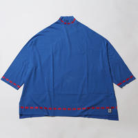 SORBET [ WIDE MOCK NECK HALF SLEEVE ] / BLUE